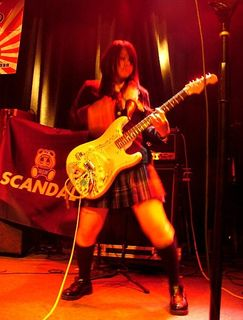 Mami lays down a lick on March 21 at The Independent in San Francisco.