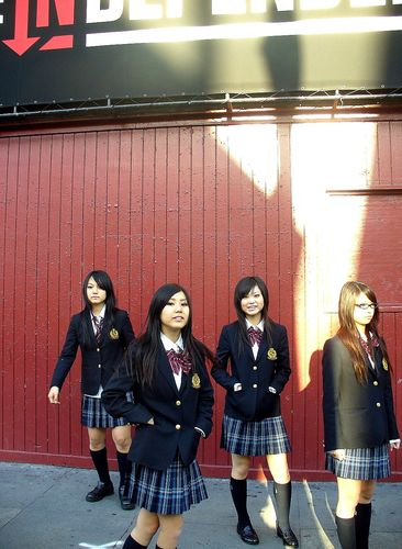 Sun sets on Scandal members, from left, Mami, Tomomi, Rina and Haruna.