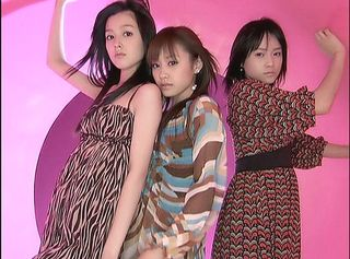 Eri, right, joins already-graduated Koharu, left, this fall. Aichan, center, remains.